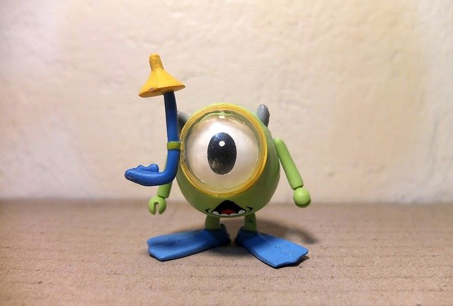 A close up of a toy